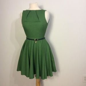 Closet Belted Fit and Flare Dress Size 6